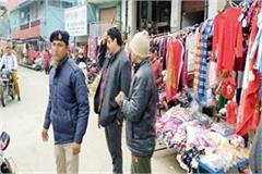 sdm removed hawkers in indora