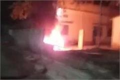 protesters blow up police station in mau for caa curfew imposed