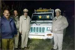 one arrested including jeep filled with wood