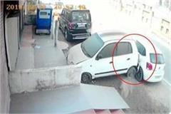 uncontrollable car hit the 3 vehicles on nh 21