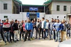 people protest out of police station