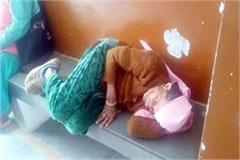 elederly woman in paonta sahib hospital