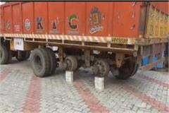 truck parked petrol pump stolen cctv captured