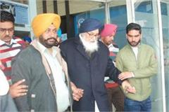 prakash badal arrives at delhi heart hospital for health checkup