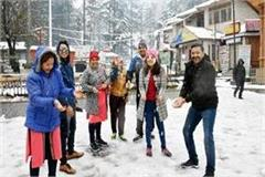 mallroad of manali became snow point