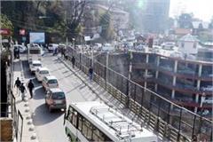 traffic jam in shimla
