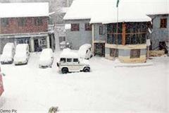 snow storm in koksar and sissu of lahaul