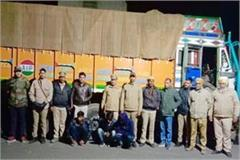 una truck timber recovered accused custody