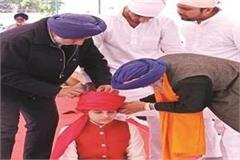 the turban of the maharaja of jind principally worn by daughter