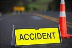 three people were killed in a car motorcycle collision in sitapur