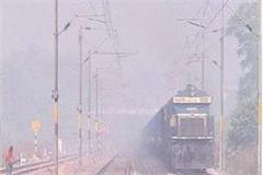shadow of the most dense fog in bhopal and gwalior many trains lie