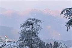 fresh snowfall in upper areas