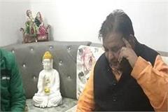former minister and mla ghanshyam sarraf s car crashed