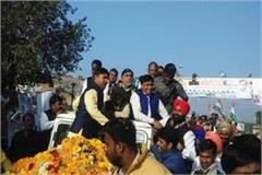 ministers of lakhan singh supporters at the station