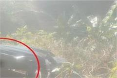 alto car drowned in deep ditch in shillai