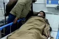 drug addicts attacked the soldier with a knife