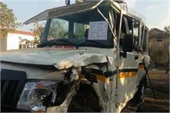rapid havoc continues in the state police jawan dies due to truck collision