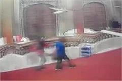 stolen in panchavati temple cctv camera capture event