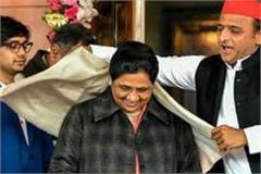 akhilesh wearing mayawati the same shawl which mulayam had unloaded