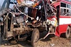 painful incident in roadways bus and dumpers one deaths