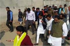 jayewardhan singh and pc sharma inspected the smart city road