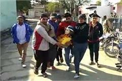 dispute on bhagat singh moorti broken in sonipat