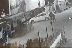 roadside punker break glass of gift shop see cctv footage