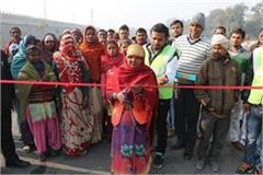 women laborers inaugurated flyover