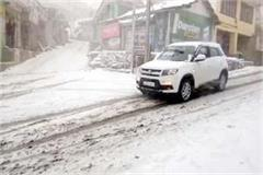 snowfall in upper areas of sirmaur touist take enjoy of snow