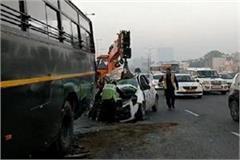 road accident on gurugram