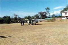 when the army s chopper emergency landing in sakri