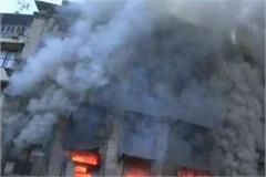 fire in prayagraj burning more than 15 shops