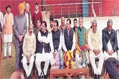 congratulation ceremony of middha on chief minister s residence