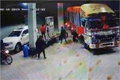 masked youth looted rs 5 lakhs from petrol pump