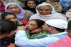 martyr sukhjinder singh funeral at his village