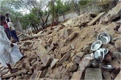 ghaziabad has lost many houses due to strong winds and rain