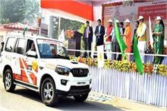 cm yogi flagged off road safety awareness motor rally