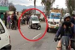 road accident on chandigarh dehradun nh