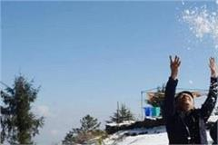 shimla and kufri in the snow were taken by the tourists in the camera