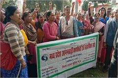 anganwadi worker the memorandum submitted to the collector on demands