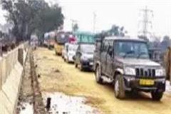 restored traffic from new manjhi bridge