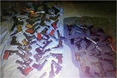 supplies of arms from madhya pradesh 107 pistol recovered in delhi
