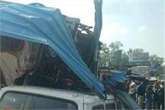 unauthorized truck in una crashed many vehicles