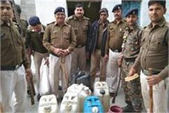excise department and police joint action illegal liquor recovered 40 lakhs