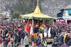 chariot journey of lord ragunath on basant panchmi