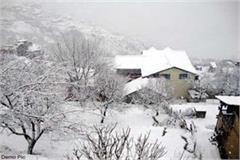 churah and bharmour again resume snowfall