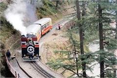 once again century old steam engine ran on the kalka shimla railway track