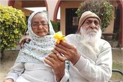 valentine day elderly celebrate