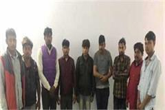 stf has busted the factory of making country liquor in amethi 9 arrested