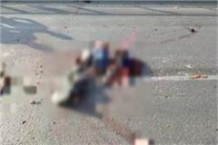 high speed truck collides with bike 4 youths die of painful death